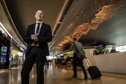 TWA-0075527 © WestPix Perth Airport Chief Executive Kevin Brown is pictured in the T1 Terminal. Picture: Michael Wilson The West Australian