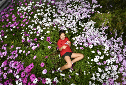 TWA-0076071 © WestPix Chittering Spring Flower Festival. Pictured is Izzy Mcauliffe. Picture: Ian Munro The West Australian 15/09/17