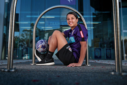 TWA-0079444 © WestPix Samantha Kerr is back home in Perth. She is pictured at Perth Glory headquarters. 25 OCTOBER 2017 Picture: Danella Bevis The West Australian