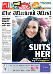 TWA-0081351 © WestPix Front page of The West Australian for the 2nd December 2017