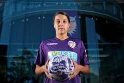 TWA-0081930 © WestPix Samantha Kerr is back home in Perth. She is pictured at Perth Glory headquarters. 25 OCTOBER 2017 Picture: Danella Bevis The West Australian