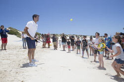 TWA-0082757 © WestPix Tennis great Roger Federer in Western Australia ahead of the start of the Hopman Cup in Perth, WA. The star toured the waters off Fremantle and Rottnest, as well as enjoying the Island itself. Picture: Simon Santi The West Australian
