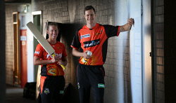 TWA-0082766 © WestPix WA cricketers Mathilda Carmichael and Jason Behrendorff are seeking parity in conditions and pay. Picture: Sharon Smith The West Australian