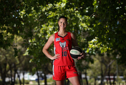TWA-0082768 © WestPix Perth Lynx forward Alice Kunek will play her 200th WNBL game this weekend. Picture: Megan Powell The West Australian.