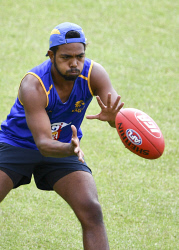 TWA-0082944 © WestPix West Coast pre-season training at Lathlain Oval. Pictured is Willie Rioli. Picture: Ian Munro The West Australian 29/11/17