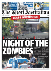 TWA-0082954 © WestPix Front page of The West Australian for the 4th January 2018.