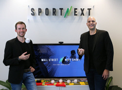 TWA-0083064 © WestPix Founders of sports trading competition Sports Next (L) Jean-Pierre Rambert and Jason Benino. Picture: Megan Powell The West Australian.