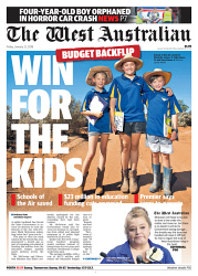 TWA-0083336 © WestPix Front page of The West Australian for the 12th January 2018