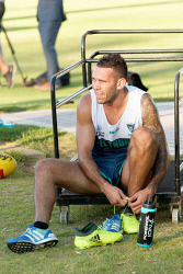 TWA-0083446 © WestPix Harley Bennell trains with Peel Thunder in Mandurah this afternoon after being banished by the Fremantle Dockers, Wednesday Jan 10, 2018.  Photo by Trevor Collens