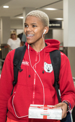TWA-0084117 © WestPix The Perth Lynx players arrive back in Perth after their semi finals loss to the Melbourne Boomers. Courtney Williams. Picture: Mogens Johansen, The West Australian