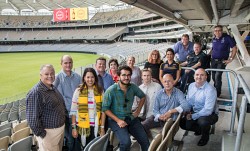 TWA-0084221 © WestPix The Sports Fans User Group - a random group of sports fans who road-tested everything from food to wifi at the new stadium to make sure it would suit the public. Picture: Mogens Johansen, The West Australian