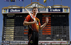 TWA-0084443 © WestPix Scorcher Shaun Marsh pictured at the WACA.  Picture: Steve Ferrier The West Australian.