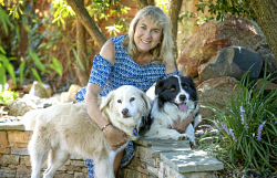 TWA-0084481 © WestPix RSPCA WA head Lynne Bradshaw and her recue dogs Dennis and Archie who will be included in the Australia Day Honours list.  Picture: Steve Ferrier The West Australian.