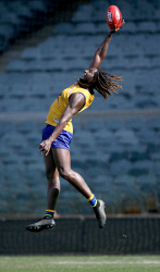 TWA-0084616 © WestPix West Coast Eagles train at Subiaco Oval. Nic Naitanui. Picture: Sharon Smith The West Australian