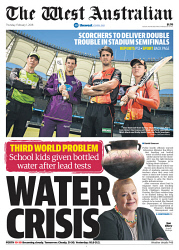 TWA-0084786 © WestPix Front page of The West Australian for the 1st February 2018