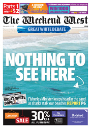 TWA-0085206 © WestPix Front page of The West Australian for the 10th February 2018