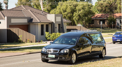 TWA-0085301 © WestPix Brearley Avenue closure in Redcliffe. The Seasons hearse will be forced to use the suburban streets to gain access to the funeral parlor.  Picture: Mogens Johansen, The West Australian