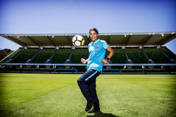 TWA-0085427 © WestPix Football star Sam Kerr at NIB stadium.  Picture: Simon Santi The West Australian