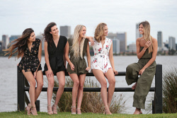 TWA-0085504 © WestPix Reigning Miss West Coast Jordy Kuriata, right, with Miss West Coast 2018 contestants Catherine Davis, Alexis Woodger, Remi Lane and Leah Bell. Pictured at the South Perth foreshore. 2 FEBRUARY 2018 Picture: Danella Bevis The West Australian