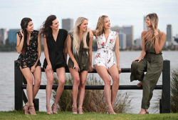 TWA-0085505 © WestPix Reigning Miss West Coast Jordy Kuriata, right, with Miss West Coast 2018 contestants Catherine Davis, Alexis Woodger, Remi Lane and Leah Bell. Pictured at the South Perth foreshore. 2 FEBRUARY 2018 Picture: Danella Bevis The West Australian