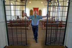 TWA-0085514 © WestPix Fremantle Prison Tour Guide Steve Green pictured in Division 3 and the chapel.  Picture: Steve Ferrier The West Australian.