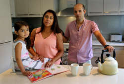 TWA-0085520 © WestPix Gerard and Sophie Decotter and their five-year-old daughter Zara at home in Dianella. PICTURE NIC ELLIS   THE WEST AUSTRALIAN