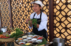 TWA-0085586 © WestPix Chef Gai during one of the Banyan Tree's cookery classes. Pictures: Melanie Coram