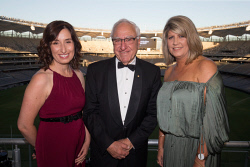 TWA-0085596 © WestPix Sonia Beros, Ken Michael & Simone Nitschke - RAC WA Sports Star Awards Picture by Matt Jelonek The West Australian 8 Feb, 2018