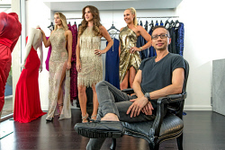 TWA-0085637 © WestPix Perth Designer Alvin Fernandez pictured with Rebecca Frost, Samantha Wylie and Emma Milner at his Claremont Ae'lkemi store.  Picture: Steve Ferrier The West Australian.
