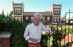 TWA-0085644 © WestPix Heritage architect Philip Griffiths outside the Albany Bell Castle in Mount Lawley. PICTURE NIC ELLIS   THE WEST AUSTRALIAN