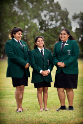 TWA-0085650 © WestPix Three students from Swan View SHS have been awarded YAL scholarships to help them complete their education. Bertha Moore (14), Shontae Coyne (15), and Kawlija-Merle Brahim (14). Picture: Simon Santi The West Australian