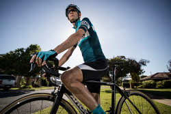 TWA-0085658 © WestPix Cyclist Michael Bonner who was hit by a car in 2015 and suffered a broken neck. Photo by Michael Wilson, The West Australian.