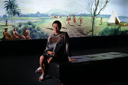 "TWA-0085660 © WestPix Artist Lisa Reihana's exhibition ""Emissaries"" is now showing at the John Curtin Gallery. Picture: Megan Powell The West Australian."