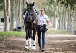 TWA-0085830 © WestPix Rio Olympics hopeful Sharon Jarvis with 8 year old mare, Ceacy. Picture: Simon Santi The West Australian