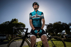 TWA-0085832 © WestPix Cyclist Michael Bonner who was hit by a car in 2015 and suffered a broken neck. Photo by Michael Wilson, The West Australian.