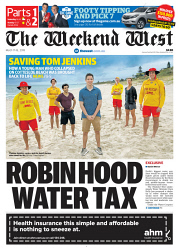 TWA-0087060 © WestPix Front page of The West Australian for the 17th March 2018