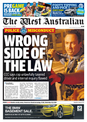 TWA-0087356 © WestPix Front page of The West Australian for the 22nd March 2018