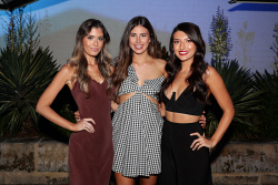TWA-0087843 © WestPix Miss West Coast 2018 Finalists Cocktail Party at Cottesloe Beach Hotel on Wednesday March 28th, 2018. Wild Card Winners - Jessica Zisa, Amy Munro & Imogen Morgan  Picture: John Koh.