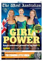 TWA-0087860 © WestPix Front page of The West Australian Commonweath Games wraparound for the 4th April 2018
