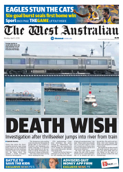 TWA-0087978 © WestPix Front page of The West Australian for the 9th April 2018