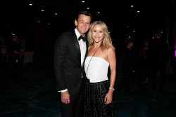 TWA-0088450 © WestPix Laurie Sawle Medal Night Red Carpet at Riverview Room, Optus Stadium on Thursday April 5th, 2018. Adam Gilchrist & Mel Gilchrist  Picture: John Koh.