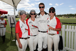 TWA-0088471 © WestPix Bentley Polo in the Valley at Duncraig Stud, Swan Valley on Sunday April 8th, 2018. Chloe Kiely, Whitney Warren, Zac Johnson & Indi Bennetto  Picture: John Koh.