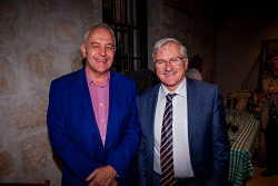 TWA-0088596 © WestPix 2018 | SWM Socials - Tom Vickers and the Extraordinary Adventure of his Missing Sock Launch at WA Shipwrecks Museum, Fremantle on April 13th, 2018. Photo - Alec Coles (CEO WA Museum) & Duncan Ord Picture: Alan Chau The West Australian.