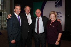 TWA-0088604 © WestPix Cannings Purple Official Office Opening at Brookfield Place on Tuesday April 10th, 2018. Warwick Hazeldine, Kim Beazley, Keith Jones & Annette Ellis Picture: John Koh.