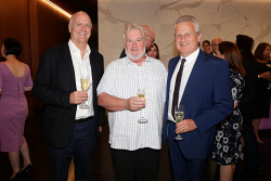 TWA-0088606 © WestPix Cannings Purple Official Office Opening at Brookfield Place on Tuesday April 10th, 2018. Ian Murray, Bruce Maluish & Tim Netscher  Picture: John Koh.
