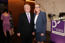 TWA-0088607 © WestPix Cannings Purple Official Office Opening at Brookfield Place on Tuesday April 10th, 2018. Norman Moore & Karen Brown  Picture: John Koh.