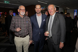 TWA-0088616 © WestPix An Evening with Telstra Perth Fashion Festival at Brookfield Place on Thursday April 12th, 2018. Bill Liddelow, Kent Anderson & Rob Delane  Picture: John Koh.