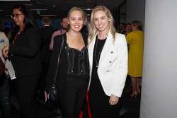 TWA-0088618 © WestPix An Evening with Telstra Perth Fashion Festival at Brookfield Place on Thursday April 12th, 2018. Karin Tsagalis & Helena Wallis  Picture: John Koh.