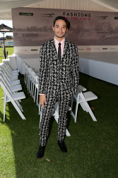 TWA-0088630 © WestPix Amelia Park Karrakatta Plate Day at Ascot Racecourse on Saturday April 14th, 2018. Samuel England  Suit by Topman  Shoes by Beau Coops Tie by Ascot Australia  Shirt by Ralph Lauren  Picture: John Koh.