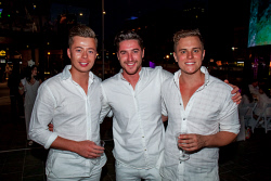 TWA-0088672 © WestPix 2018 | SWM Socials - Diner en Blanc at Yagan Square on April 7th, 2018. Photo - Trent Harvey, Nate Whiskey & Josh Ridley Picture: Alan Chau The West Australian.